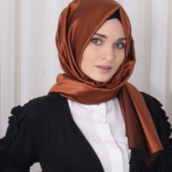 İPEKHAN HİNT İPEĞİ ŞAL BAKIR SİYAH-9946