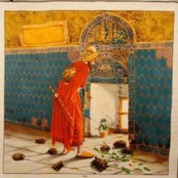 AKER ÖZEL KOLEKSİYON KAPLUMBAĞA TERBİYECİSİ PANO DESEN EŞARP 3121-312