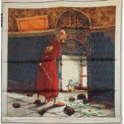 AKER ÖZEL KOLEKSİYON KAPLUMBAĞA TERBİYECİSİ PANO DESEN EŞARP 3121-311